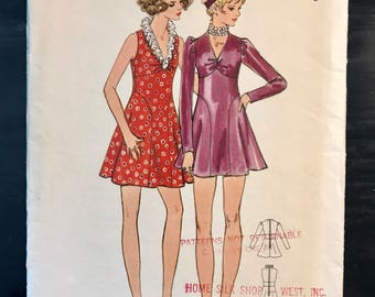 Butterick Vintage Pattern Size 7 bust 32 circa 1968