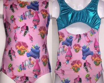 Girls gymnastics leotard - Trolls leotard