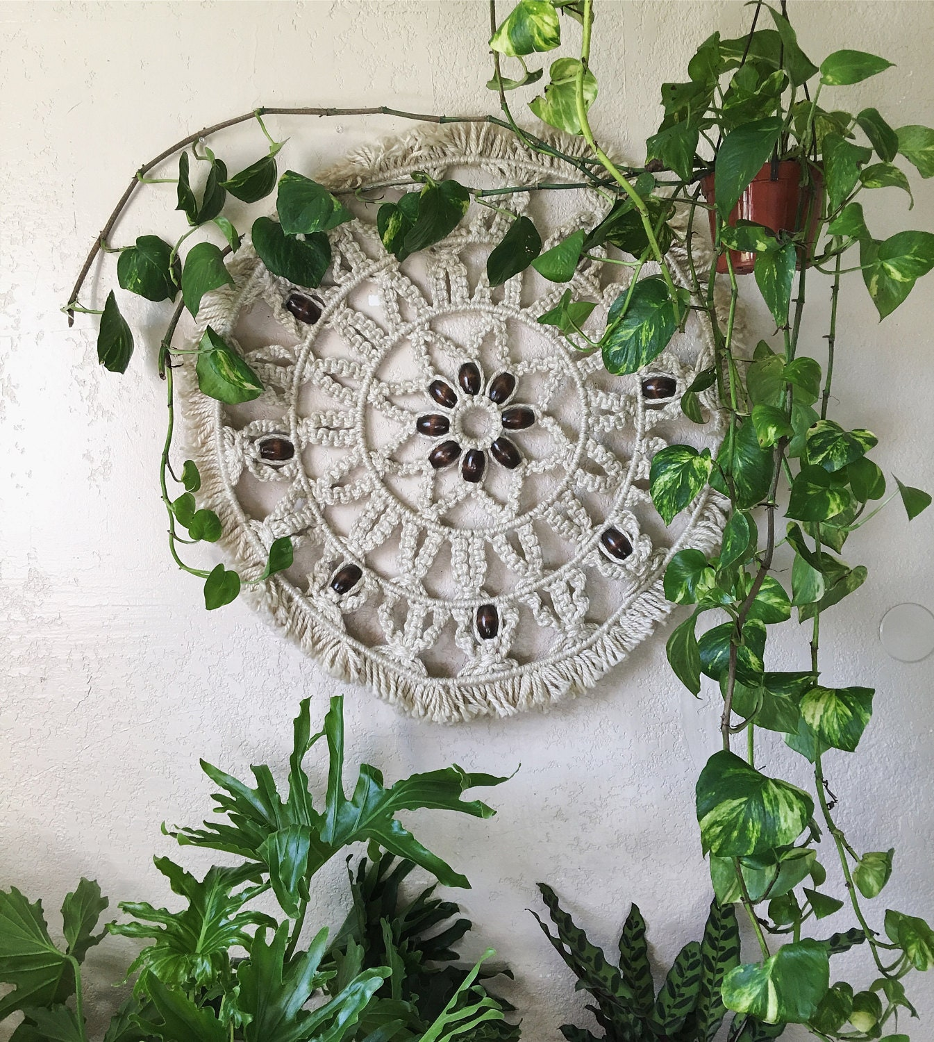 Large Woven Macrame Wall Hanging