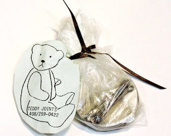 Teddy Bear Joints, 2 inch, 50.8mm Round Metal Discs w/Cotter Pins, Plush Animal Dollmaking Tool, Craft Supply itsyourcountry
