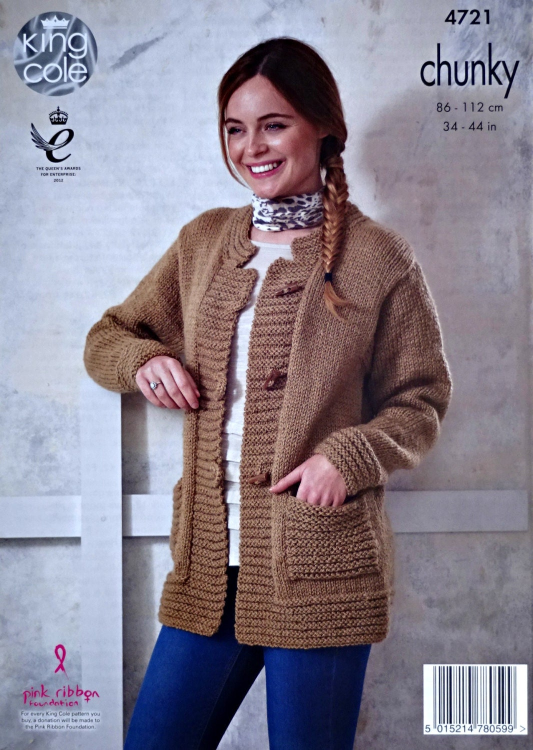 Womens Knitting Pattern K4721 Ladies Long Sleeve Cable Jacket