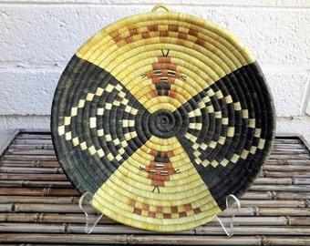 Native American Basket Hopi Polychrome Mudhead Kachina Effigy Figure Coiled Fiber Art Weaving Museum Quality Piece