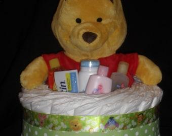 Winnie the Pooh Diapercake with Plush Winnie the Pooh