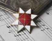 """Vintage Latvian patriotic folk badge,pin.""""Auseklis"""""""