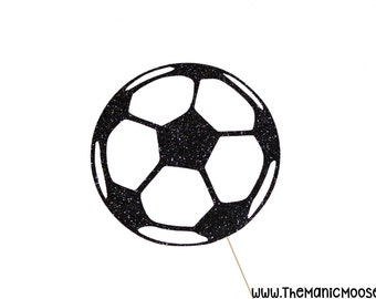 Football Photo Booth Prop ~ Glitter Soccer Ball ~ Soccer Prop ~ Photobooth Props