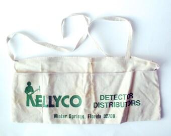 Vintage Kellyco Detector Distributors Apron, Winter Springs, Florida, Metal Detectors