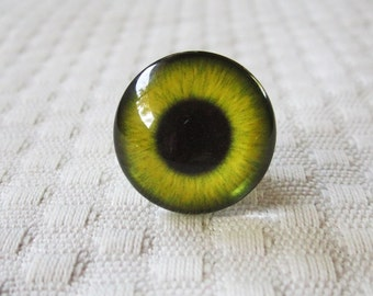 Glass eyes, 20mm glass cabochons