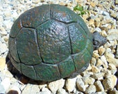 Turtle, Turtle Statue, Garden Statuary, Chubby Concrete Turtle,  Weighs Over Seven Pounds, Shipping Included.