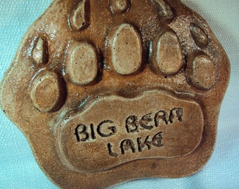 Awesome Stone Bear Paw Coaster, Paperweight, Over One half Pound Of Rock