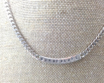 Wanderlust sterling silver necklace