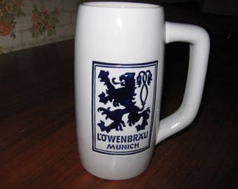 Lowenbrau Munich Beer Stein or Mug Made by Ceramarte Brazil