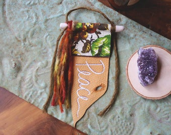 RESERVED FOR MOONFLOWERRAIN - Custom Word of the Year Gypsy Altar Prayer Flag