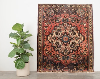 NEEKAN 5x7 Hand Knotted Persian Wool Rug