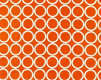 "END OF BOLT - 1 Yard Cut of Orange Circles Metro Living From Robert Kaufman - 36""x44"""