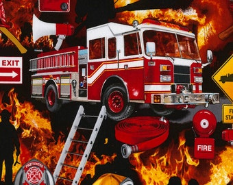 Firefighter Collage from Timeless Treasures
