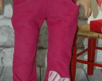 American, Made, girl, doll, corduroy, fit 18 inch doll, pants, doll clothes