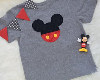 Toddler boy Mickey Mouse inspired t-shirt- personalize with your child's name!
