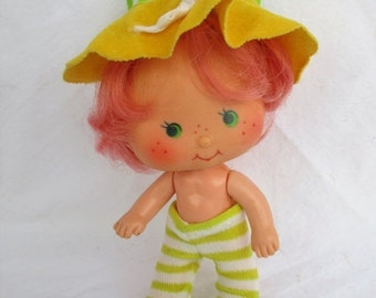 New Years SALE 20% OFF Vintage Cherry Cuddler Doll From Strawberry Shortcake collection, 1979 American Greetings