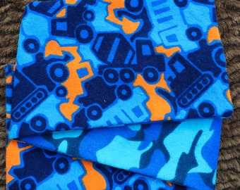 Blue Camo Trucks, ***STAGE 1*** Children's G Tube Belly Band Wrap, (waist size 17.5-19.5 inches)