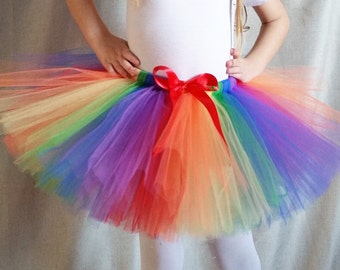 Rainbow Tutu/Multicolor Tutu/Baby Tutu/Toddler Tutu/Clown Tutu/Party Tutu/Halloween Costume Tutu/Photo Prop Tutu/Rainbow Pony Tutu