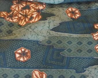Vintage Japanese wool kimono fabric 92 cm x 36 cm juban light weight summer wool