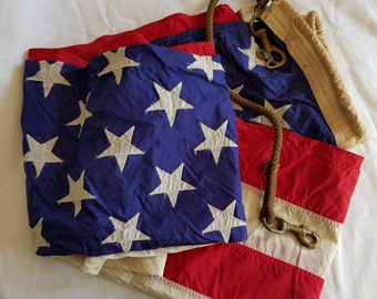 Vintage 1970s Outdoor Nylon American Flag