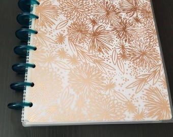 Rose Gold Floral Happy Planner Cover - Classic
