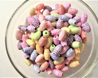 10mm* 5mm, Round, Spacer beads, Approx. 250 beads, 50g, Mixed Color, K53