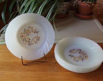 Vntg Termocrisa Bowls Set of 7 Yellow Daisy