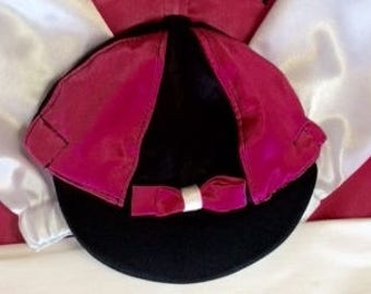Hats Custom Designed.  Pinwheel, solid and custom sewing to match your silk.