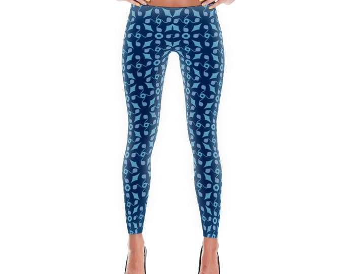Darjeeling Limited Leggings Blue Pattern