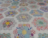 Grandma's Flower Garden hand quilted for Kathy Jaster