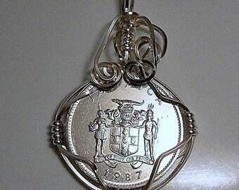 Jamaica Coin Pendant 1987