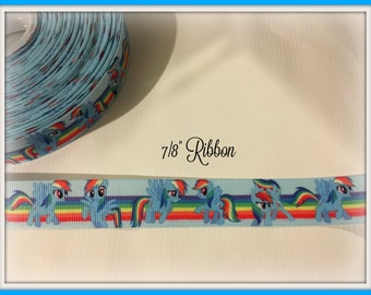 My Little Pony RAINBOW DASH 7/8 inch Grosgrain ribbon #2