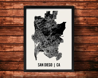 San Diego Map Art Print | San Diego Print | San Diego Art Print | San Diego Poster | San Diego Gift | Wall Art