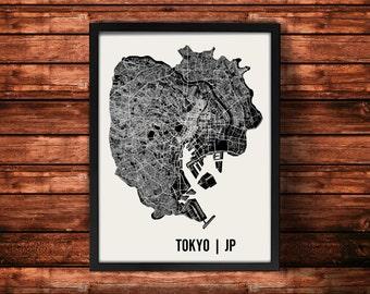 Tokyo Map Art Print | Tokyo Print | Tokyo Art Print | Tokyo Poster | Tokyo Gift | Wall Art