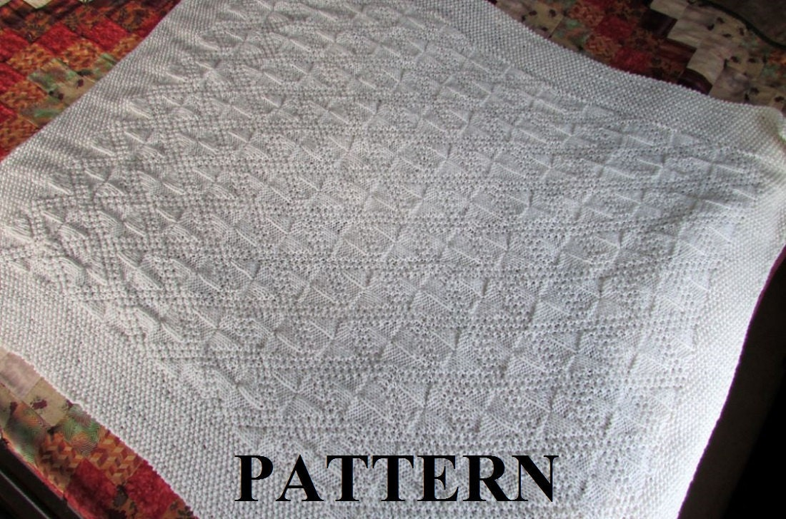Knit baby blanket pattern baby blanket pattern knitting pattern this is a digital file bankloansurffo Choice Image