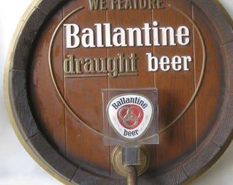 Vintage Ballantine Beer Tap Sign