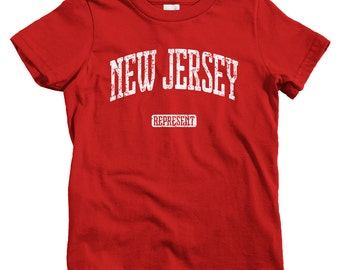 Kids New Jersey Represent T-shirt - Baby, Toddler, and Youth Sizes - New Jersey Kids Tee, Gift, Newark Youth, Jersey City Kids, East Coast