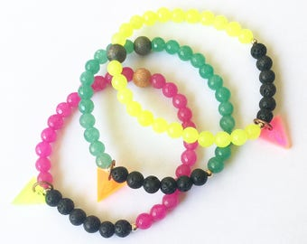 Essential Oil RAINBOW Diffuser Bracelet Stackers