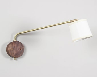 Wall Lamp, Brass and Wood Wall Lamp, Contemporary Sconce, UL Listed- Journey Sconce