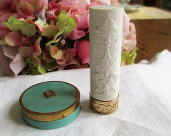 1940's Lipstick And Rouge, Vintage Makeup, Makeup & Cosmetics, Collectible