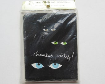10 NOS Vintage 50s Slumber Party Invitations New Old Stock in Package