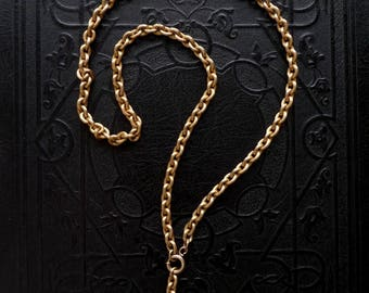 RESERVED / Victorian 10k Gold Watch Chain Necklace