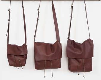 Bolsa - Messenger Bucket Crossbody Bag - Havana Brown