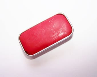 Red Rose Mineral Lip Color - Lipstick In A Tin - Vegan Mineral Makeup -  Cruelty Free Cosmetics