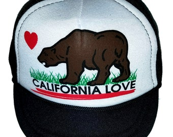 California Love Baby Sized Mesh Trucker Hat Cap Newborn