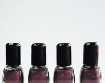 Nail Polish Paramour Black Plum Vegan nails  free From harsh Chemicals indie nail polish Shiny glossy manicure Violet