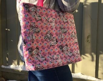 Floral princess tote bag