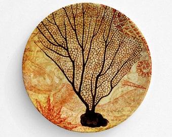 Ocean Coral Melamine Plate, Melamine Plate, Sea Coral Plate, decorative plate, Dinner Plate, Serving Plate